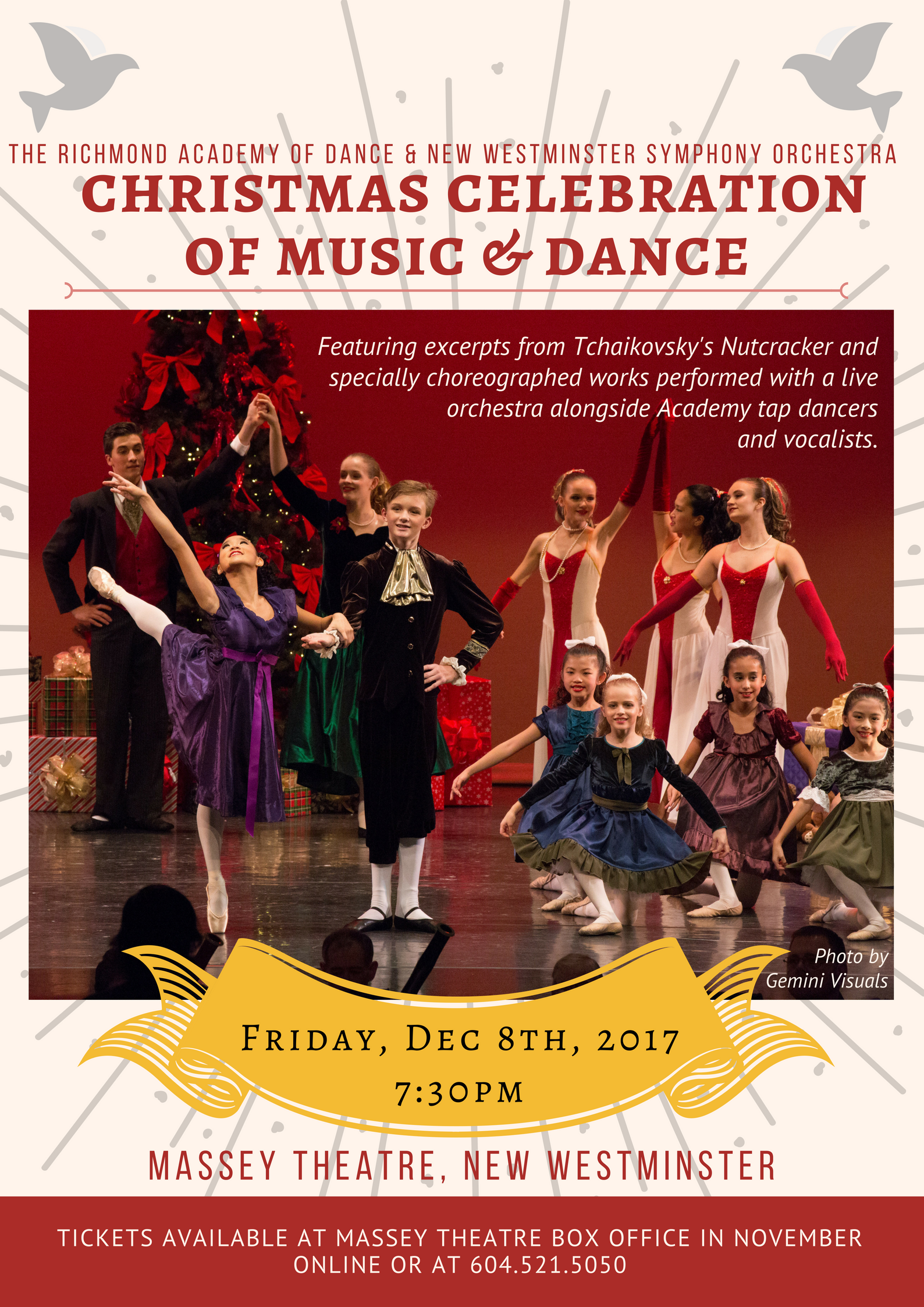 The New Westminster Symphony Orchestra and the Richmond Academy of Dance proudly present their 18th Annual Christmas Dance Concert.