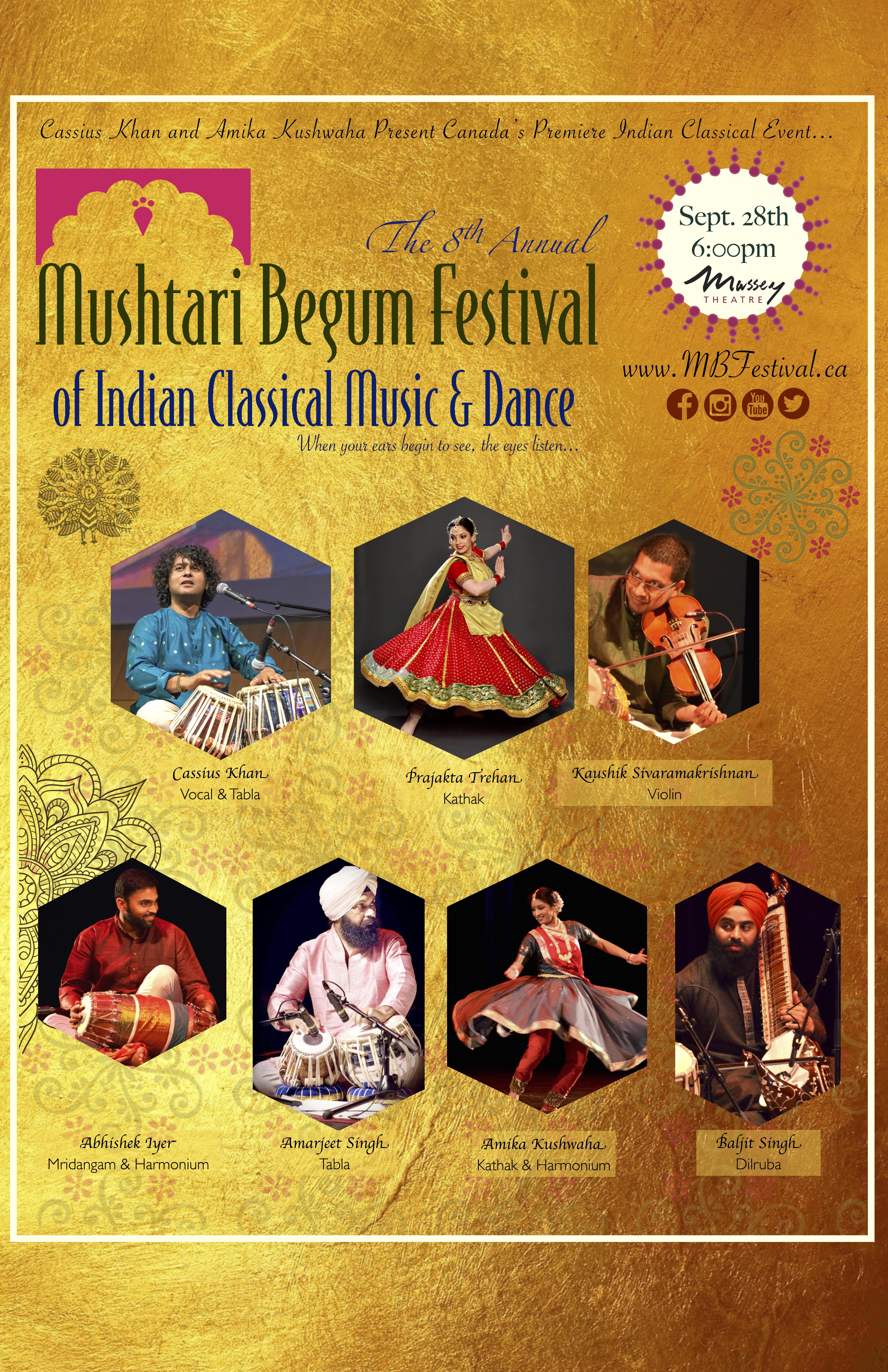 8th Annual Mushtari Begum Festival | Massey Theatre